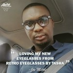 Joe Mettle rocking his Retro Eyeglasses by Tasha